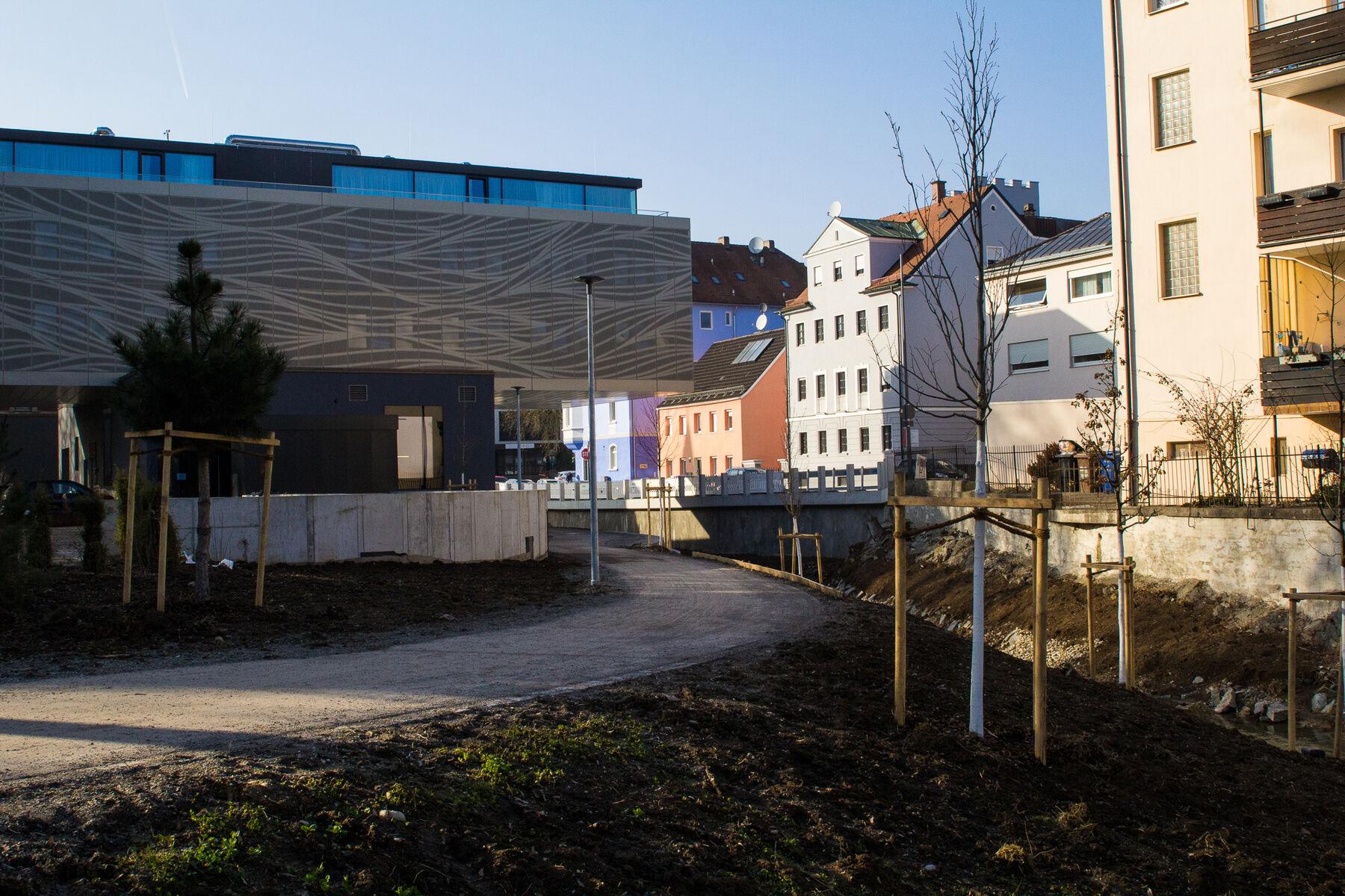 Neugestaltung Allachbachradweg im Berich Hotel Villa 6